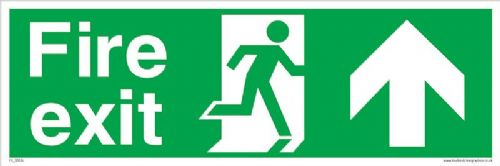 Fire exit Running man Up sign